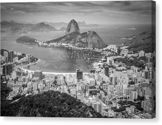 Rio De Janeiro Skyline Canvas Print - Rio De Janeiro Aerial View by Product Pics