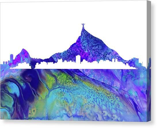 Rio De Janeiro Skyline Canvas Print -  Rio De Janeiro Skyline by Erzebet S