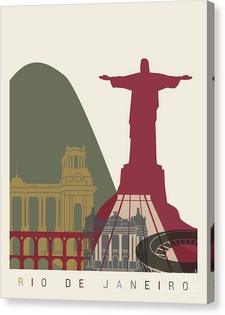 Rio De Janeiro Skyline Canvas Print - Rio De Janeiro Skyline Poster by Pablo Romero