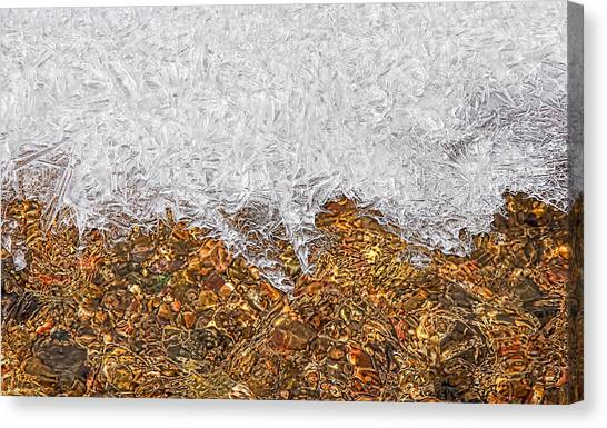 Rio Embudo Ice Canvas Print