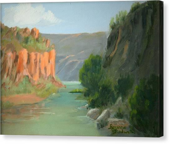 Rio Grande Canyon Canvas Print by Roxanne Rodwell