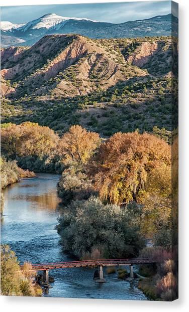 Rio Grande Embudo Vista Canvas Print