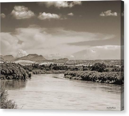 Rio Grande In Sepia Canvas Print