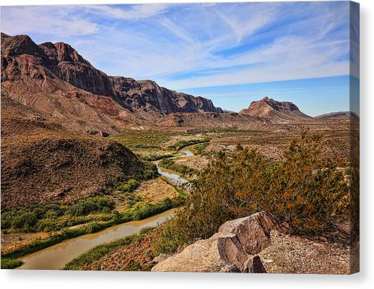 Brown Ranch Trail Canvas Print - Rio Grande River 5 by Judy Vincent