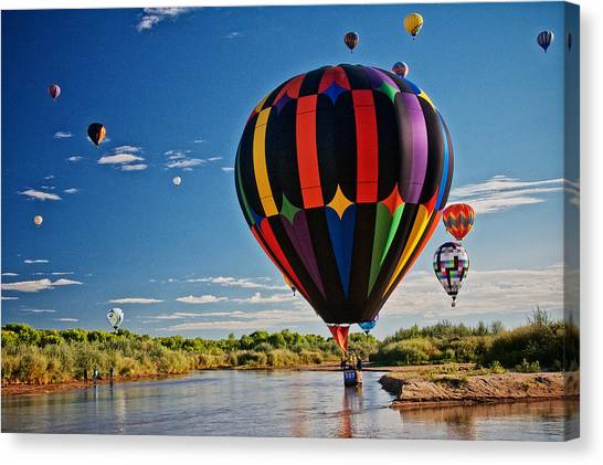 Rio Grande Splash Down, New Mexico Canvas Print