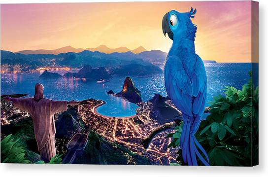 Peacocks Canvas Print - Rio by Maye Loeser