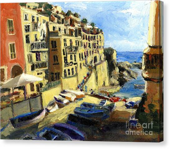 Riomaggiore Italy Late Afternoon Canvas Print