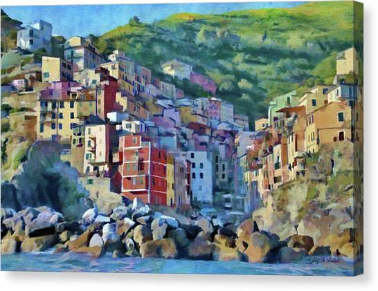 World Heritage Canvas Print - Riomaggiore by Jeffrey Kolker