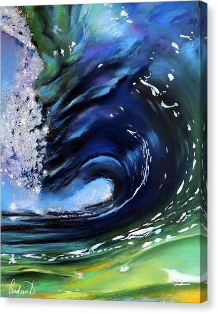 Rip Curl - Dynamic Ocean Wave  Canvas Print by Prashant Shah