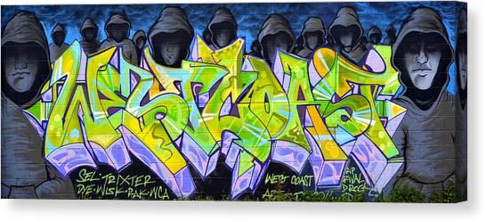 Graffiti Walls Canvas Print - Rip Rival by Fraida Gutovich