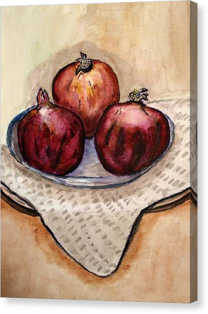 Ripe Pomegranates . Canvas Print