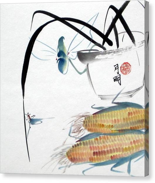 Ripen Corns Canvas Print by Ming Yeung