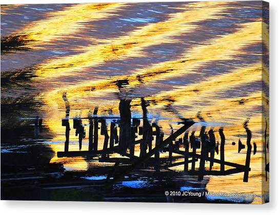 Ripple Effects Of The Day Canvas Print by JCYoung MacroXscape