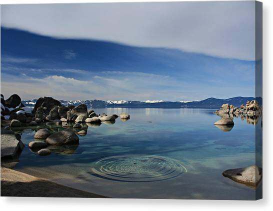 Canvas Print featuring the photograph Ripples   by Sean Sarsfield