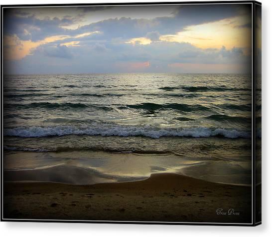 Ripples On The Shore Canvas Print by Trina Prenzi