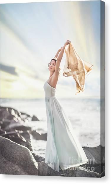 Breeze Canvas Print - Rise And Shine by Evelina Kremsdorf