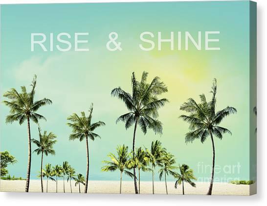 Morning Canvas Print - Rise And  Shine by Mark Ashkenazi