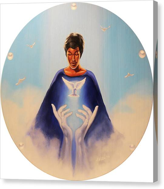 Zeta Phi Beta Canvas Print - Rise In This Light by Jerome White
