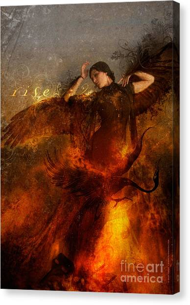 Flames Canvas Print - Rise by Silas Toball