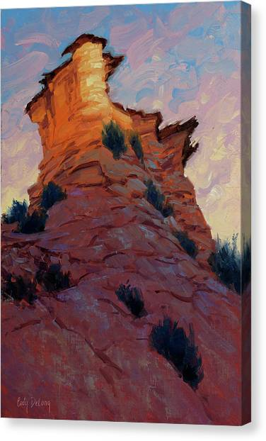 Red Rock Canvas Print - Rise Up 16x12 by Cody DeLong