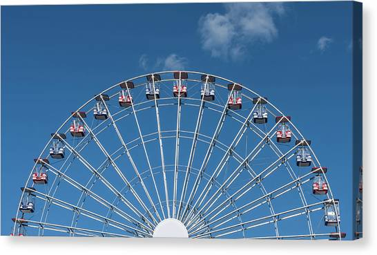 Casino Pier Canvas Print - Rise Up Ferris Wheel In The Clouds Seaside Nj by Terry DeLuco