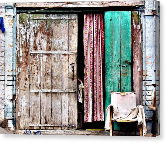 Rishikesh Door Canvas Print by Derek Selander