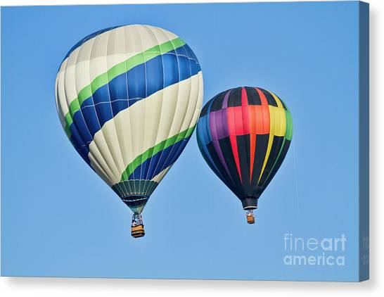 Hot Air Balloon Canvas Print - Rising High by Arthur Bohlmann