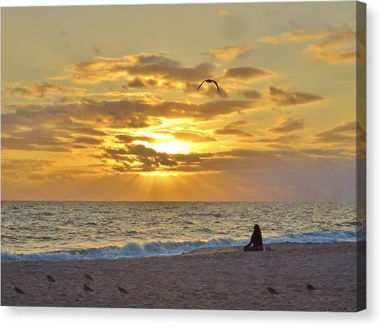 Canvas Print - Rising Sun Land by Red Cross