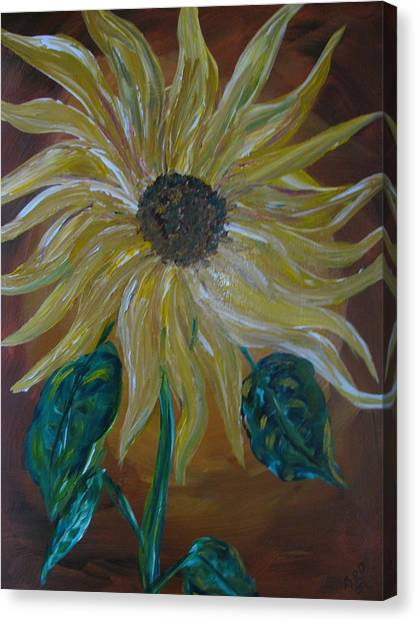 Rising Sunflower Canvas Print by Dennis Poyant