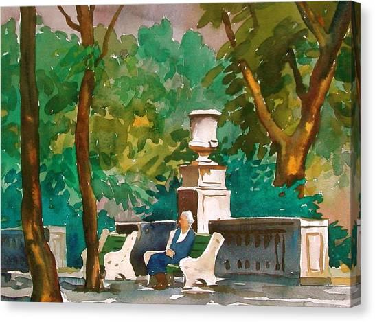 Rittenhouse Square Canvas Print by Faye Ziegler