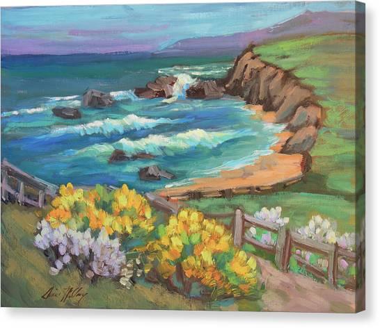Beach Cliffs Canvas Print - Ritz Carlton At Half Moon Bay by Diane McClary