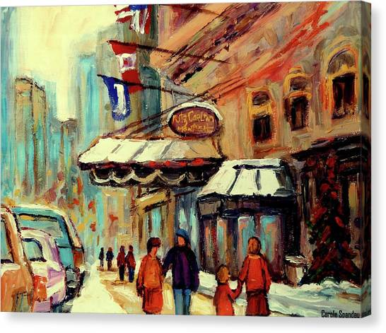 The Main Montreal Canvas Print - Ritz Carlton Montreal Cityscenes  by Carole Spandau