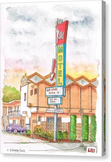 Ritz Motel In North Hollywood - California Canvas Print