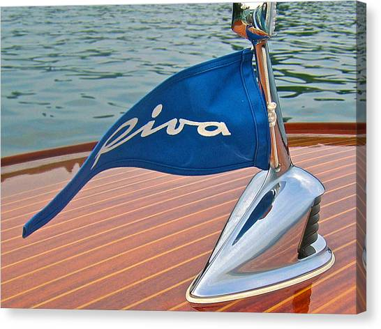 Riva Bow Flag Canvas Print