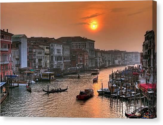 Riva Del Ferro. Venezia Canvas Print