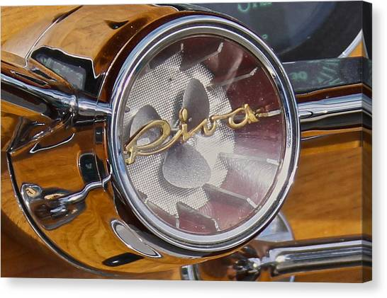 Riva Steering Hub Canvas Print