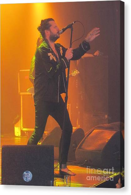 Slide Guitars Canvas Print - Rival Sons Jay Buchanan by Jeepee Aero