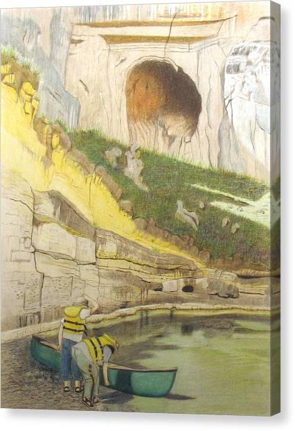 River Adventure Canvas Print by Myrna Salaun