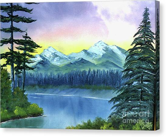 Canvas Print featuring the painting River Bend by Dee Flouton