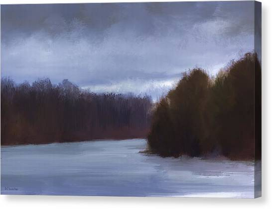 River Bend In Winter Canvas Print