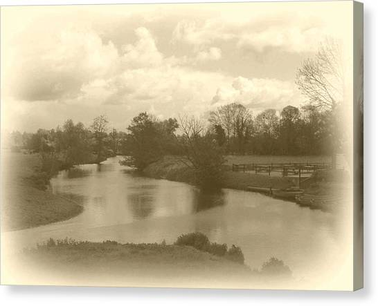 Dedham Canvas Print - River Bend by Terence Davis