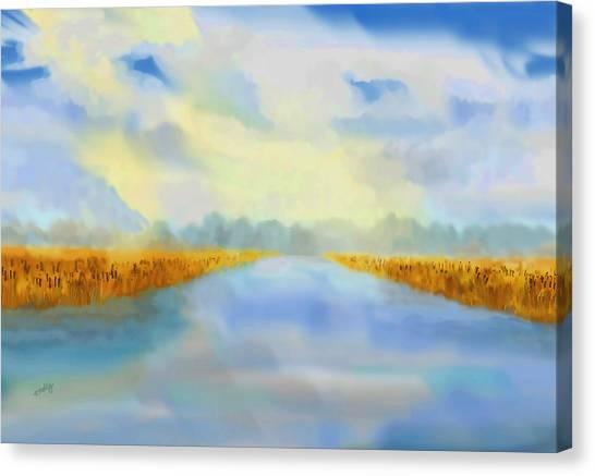 River Blue Canvas Print
