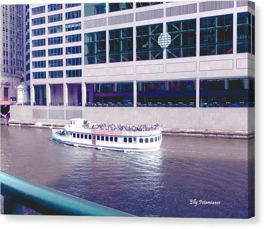 River Boat Tour Canvas Print