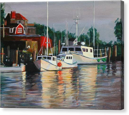 River Boats Canvas Print