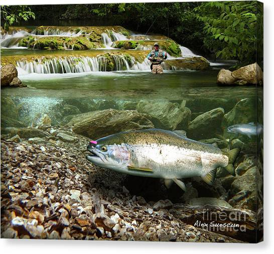 River Chrome Canvas Print