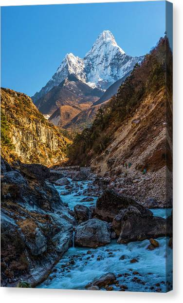 Canvas Print featuring the photograph River Crossing  by Owen Weber