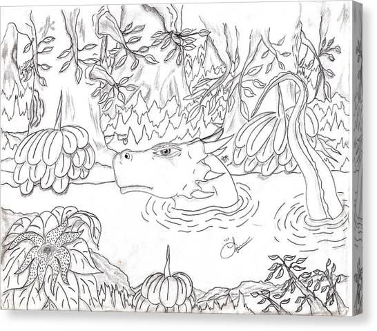 River Dragon Canvas Print by Lynnette Jones