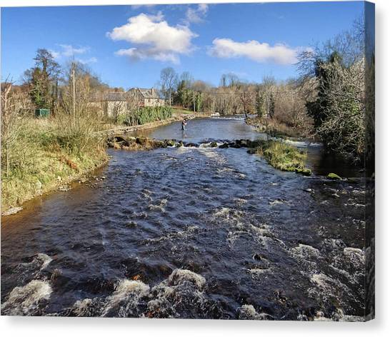 River Drowse At Kinlough, Leitrim - One Of The Best Trout And Salmon Fishing Rivers In Ireland Canvas Print