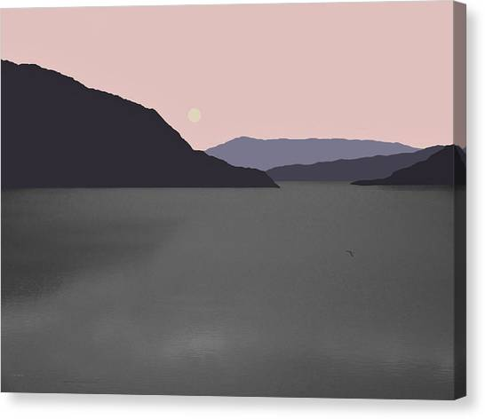 River Fog Canvas Print