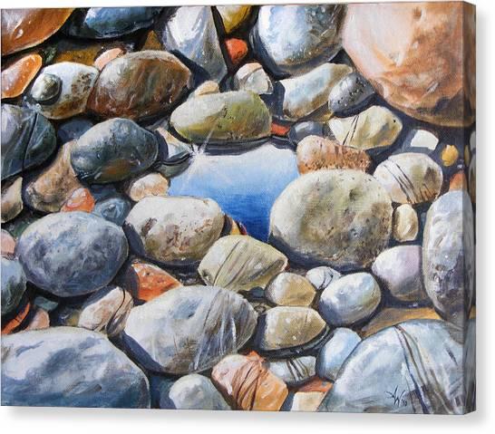 River Gems Canvas Print